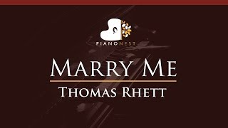 Video Thomas Rhett - Marry Me - HIGHER Key (Piano Karaoke / Sing Along) download in MP3, 3GP, MP4, WEBM, AVI, FLV January 2017