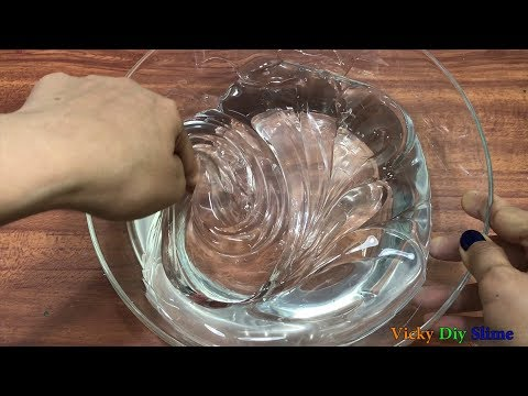 DIY JUMBO CLEAR SLIME !! Making A Jumbo Clear Slime ! Tom Slime