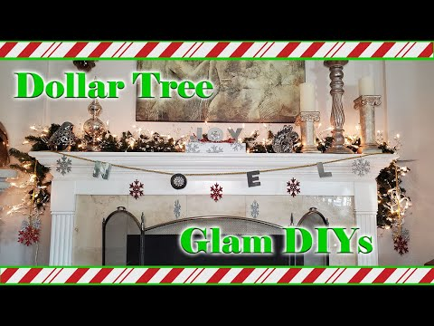 Glam Christmas Decorations 2020 - Dollar Tree Christmas DIY - Friend Friday