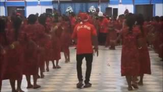 マーシャル諸島 マジュロ環礁 ウリガ教会 2016年のクリスマス ビートダンス.
