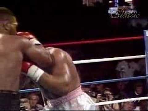 Mike Tyson's powerful uppercut knock out
