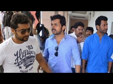Vishal  Surya and Karthi Announced their part for Flood Releif Fund