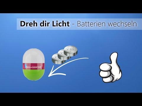 Bei dem LED Dreh dir Licht die Batterien wechseln