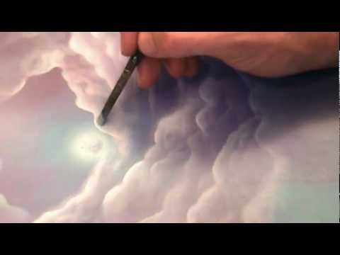 How to paint fantasy Clouds in Acrylics