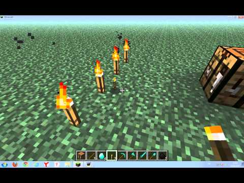 Minecraft Bolum 1 # Kılıc Kurek Balta Kazma ve Mesale Yapımı