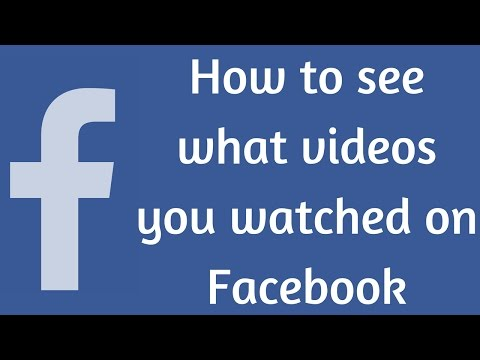 Video How to search what videos you have watched on Facebook download in MP3, 3GP, MP4, WEBM, AVI, FLV January 2017