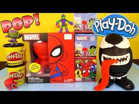 Play Doh Venom Surprise Egg Kidrobot Giant Spiderman Superhero Toy Marvel Mystery Mini Toys