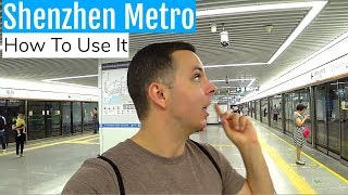 Taking the ShenZhen 深圳 metro