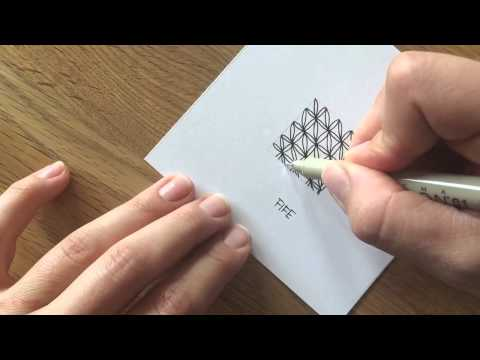 """Zentangle®  Muster: """"Fife"""" with Bunte Galerie"""