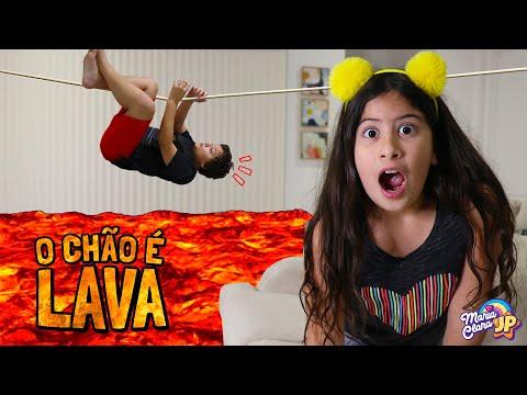 O CHÃO É LAVA COM MARIA CLARA E JP!  / The Floor is Lava Maria Clara and JP