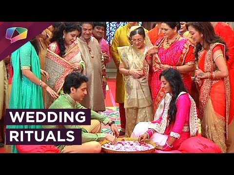 Aryan and Sanchi wedding rituals in Ek Rishta Sajh