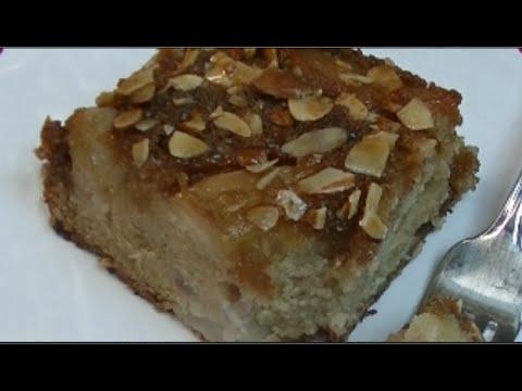 Pear Almond Upside Down Cake Recipe ~ Noreen's Kitchen