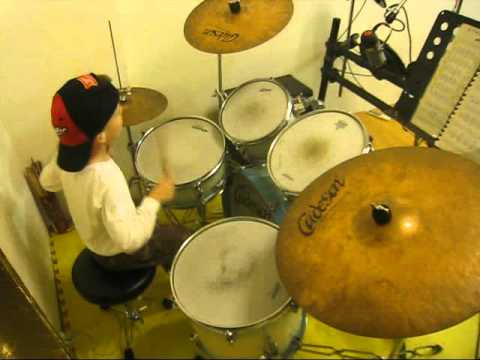 Soukous Drums 2  - 6 Year Old Drummer