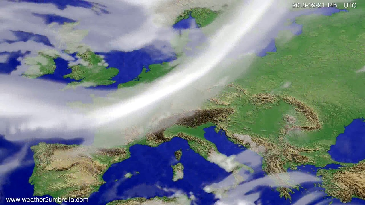 Cloud forecast Europe 2018-09-17