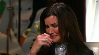 Janice Dickinson breaks down during Cosby interview