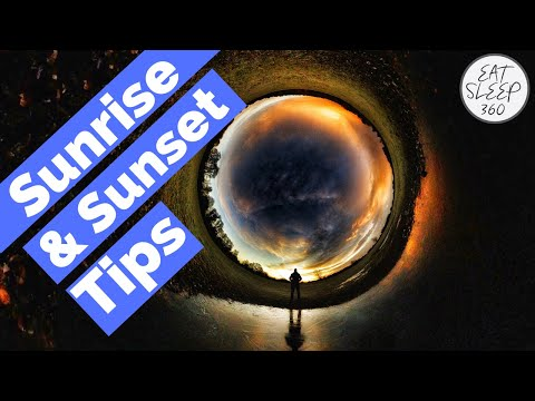 Insta360 ONE R and ONE X Sunrise and Sunset photography shooting tips
