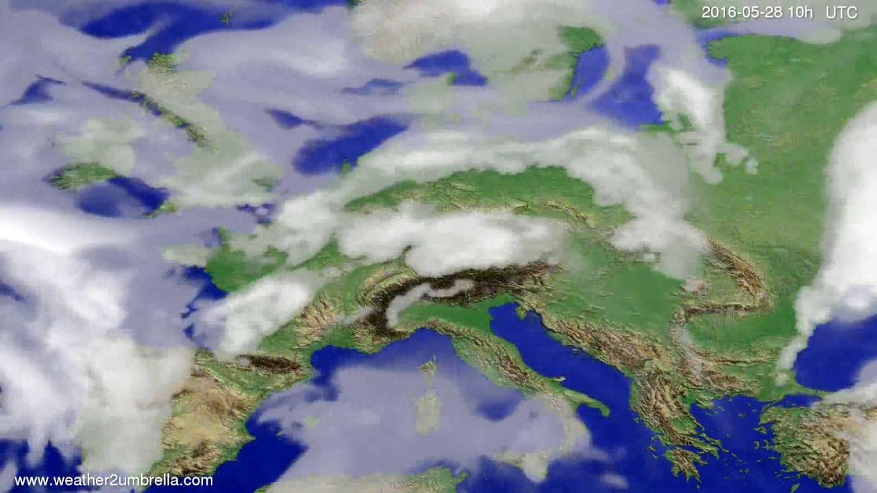 Cloud forecast Europe 2016-05-26
