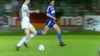 Eric Cantonas Treffer gegen Racing Straßburg