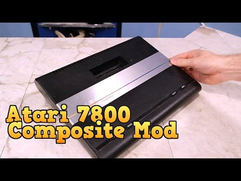 Atari 7800 Composite Mod and Review