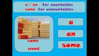 Countable and uncountable nouns, Learn English