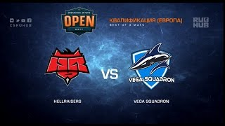 HellRaisers vs. Vega Squadron - Dreamhack Austin Qualification - map1 - de_mirage [yxo, Davidokkkk]