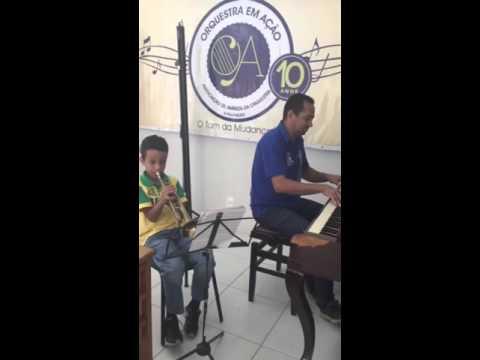 Aluno de Instrumento de Sopro Luiz Felipe