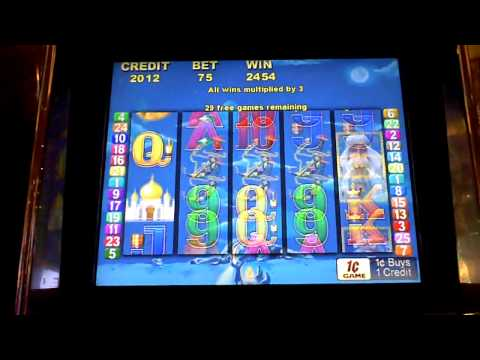 Arabian Nights 50 spin Bonus Slot Win at Parx Casino