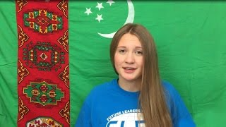 I was so happy when students showed interest during my presentations that it inspired me to do even more. I taught them about traditional Turkmen traditions, ...