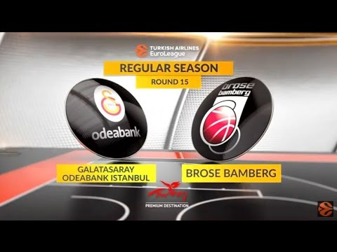 EuroLeague Highlights RS Round 15: Galatasaray Odeabank Istanbul 75-90 Brose Bamberg