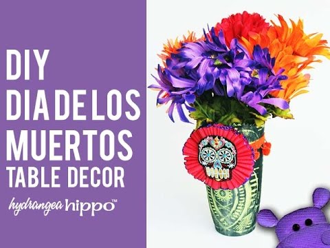 Easy DIY Dia De Los Muertos Flower Arrangement