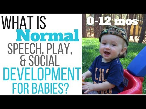 What is normal speech, play, and social development for babies? 0-12 months