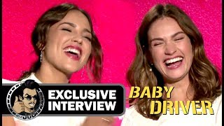 Lily James and Eiza Gonzalez's fun BABY DRIVER interview with JoBlo.com! by JoBlo Movie Trailers
