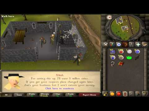 Runescape 2007 Guide :NEW: Respawn in Edgeville / Get Quest Items from Dwarfs (видео)