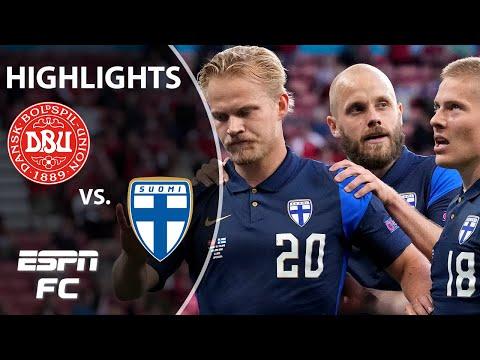 Finland wins 1-0 vs. Denmark after emotional Euro 2020 match   Highlights   ESPN FC
