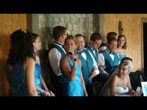 Maid of honor speech breaks into song