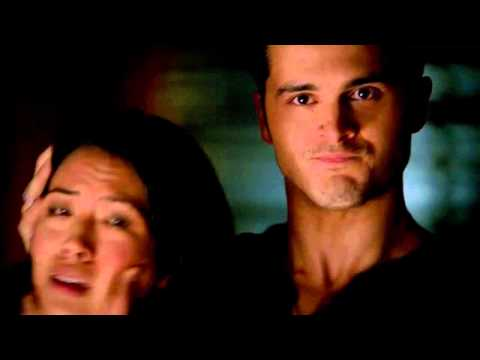 Vampire Diaries -6x02- Enzo and Caroline, Enzo kills Ivy.