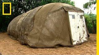 Namiot z 'betonu'