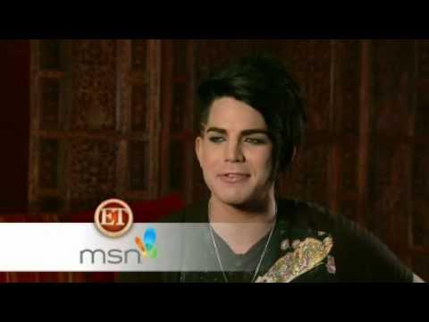 Adam Lambert on ETOnline - interview posted on MSN