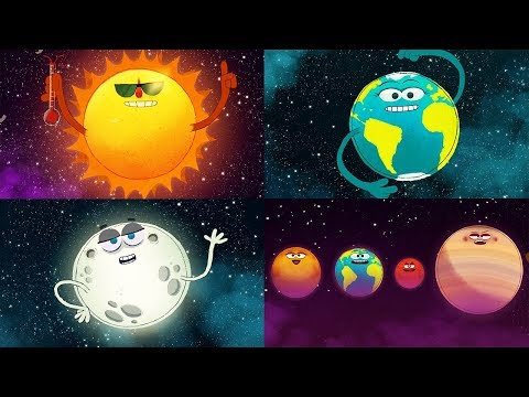 StoryBots Outer Space | Planets, Sun, Moon, Earth and Stars | Solar System Super Song | Fun Learning (видео)
