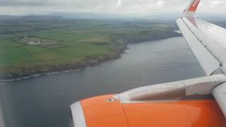 Scenic approach into the Isle of Man on an Easyjet Airbus A320 from Liverpool.