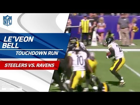 Video: Le'Veon Bell's Powerful TD Set Up by Pittsburgh Fumble Recovery | Steelers vs. Ravens | NFL Wk 4