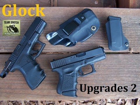 pistol - Fun Gun Reviews Presents: Glock Upgrades. Glock are accurate and reliable. Adding a few aftermarket accessories can enhance your Glock Experience. Brass Stac...