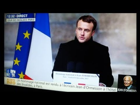 Jean d'Ormesson - Hommage National - Paris, Cour des Invalides  le 8 décembre 2017.