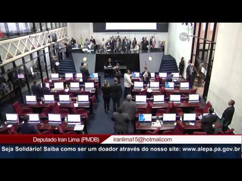Um minuto de silencio em homenagem ao Policial Militar, Sgt. João Luiz, morto em Novo Progresso