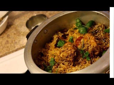 Chicken Biryani - How to make Chicken Biryani in pressure cooker--Video Recipe