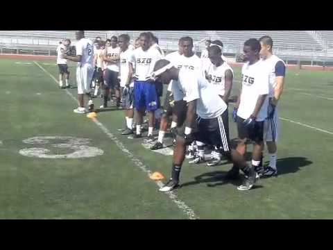 Cloy - Darrell Cloy works out with at the B2G underclassmen showcase in Downey, CA on May 20th, 2012.