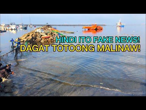 HINDI ITO FAKE NEWS! DAGAT SA MANILA BAY TOTOONG LUMINAW!
