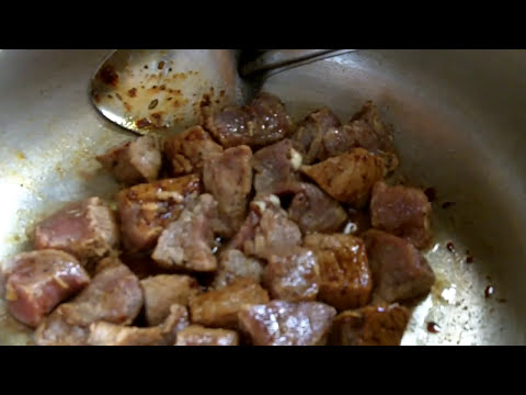 Caribbean Recipe: How to Make Caramelized Beef Stew and Potatoes in Brown Sauce
