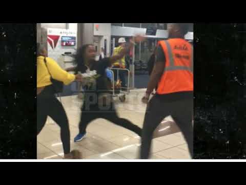ADAM PACMAN JONES KNOCKS OUT ATLANTA AIRPORT EMPLOYEE