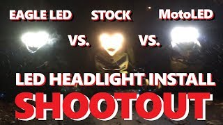 7. INSTALL LED EAGLE H4 HEADLIGHTS SKI-DOO + SHOOTOUT TEST